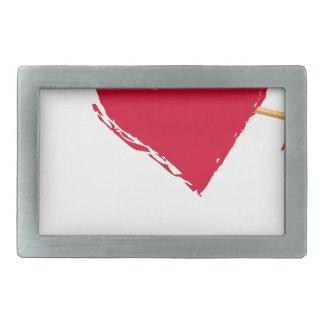 hearts4 rectangular belt buckle