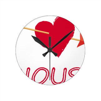 hearts4 round clock