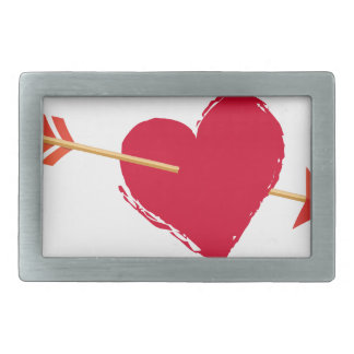 hearts6 rectangular belt buckle