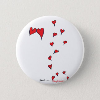 hearts 1 by tony fernandes 6 cm round badge