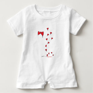 hearts 1 by tony fernandes baby bodysuit