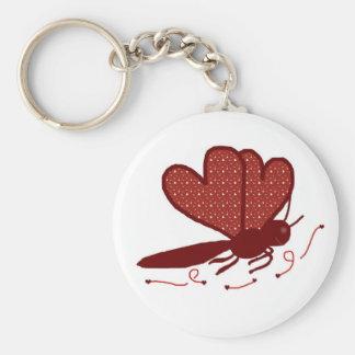 Hearts a butterfly key chain