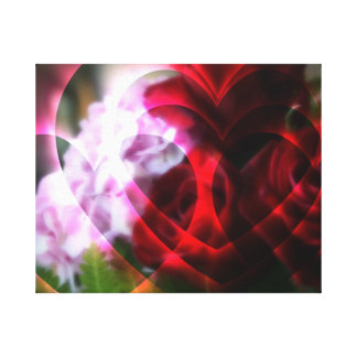 Hearts A Fire Canvas Print