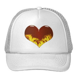 hearts-a -fire mesh hat