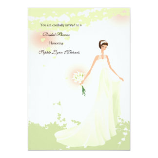 Hearts a Flutter Bridal Shower Invitation