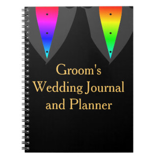 Hearts Aglow with Pride Gay Groom's Journal Spiral Note Books