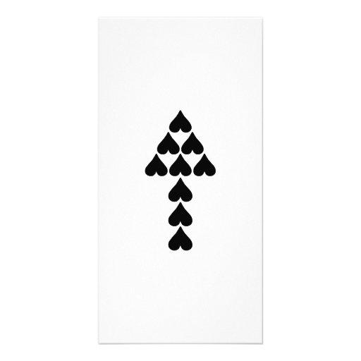 Hearts and Arrow Custom Photo Card