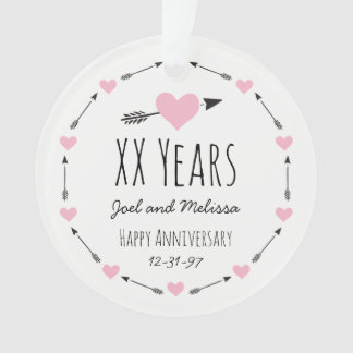 Hearts and Arrows Personalised Wedding Anniversary
