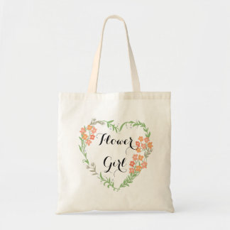 Hearts and Blossoms Flower Girl Tote Bag