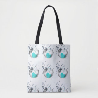 ***HEARTS AND BUBBLES*** TOTE BRIDE TO BE