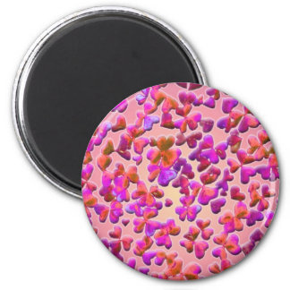 Hearts and Clovers 6 Cm Round Magnet