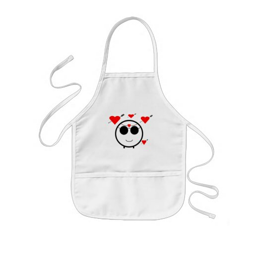 Hearts And Cupid Aprons