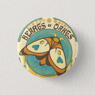 Hearts and Darts Art Nouveau Moth Button Pin