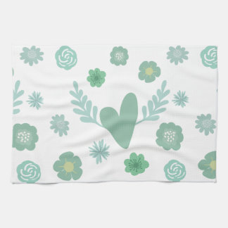 Hearts and Flowers Towels
