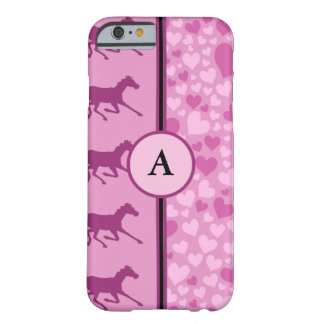 hearts and horses barely there iPhone 6 case