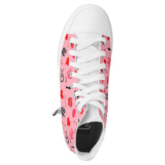 Hearts and kiss high tops