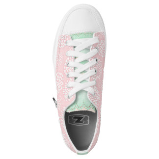 Hearts and Lace Zips Low Top Sneakers