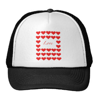 hearts and Love Mesh Hat