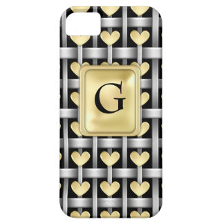 Hearts And Metal Weave iPhone 5 Cover