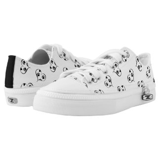 Hearts and Paw Prints Pattern Printed Shoes