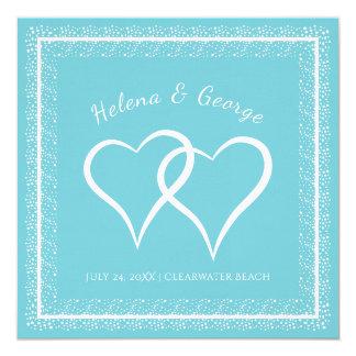 Hearts and Sparkle Custom Color Wedding Card