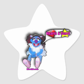 Hearts and Stars Star Sticker