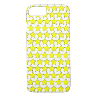 HEARTS AND STARS YELLOW/WHITE iPHONE 7/8 CASE