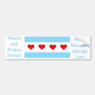 Hearts and Stripes Forever bumper sticker