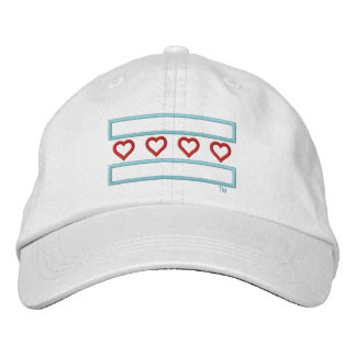 Hearts and Stripes Forever Tech Embroidered Hat