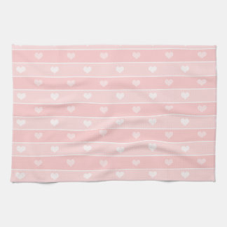 Hearts and Stripes Pink Towels