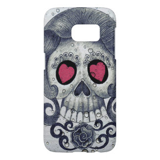 Hearts and Sugar Skull Samsung Case