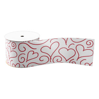Hearts and Swirls Grosgrain Ribbon