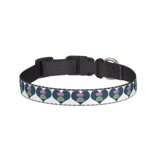 Hearts and Thistles Pet Collar