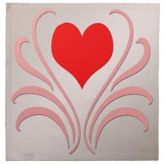 Hearts and Vines Cloth Napkins