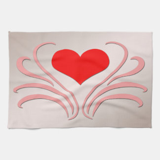 Hearts and Vines Kitchen Towels