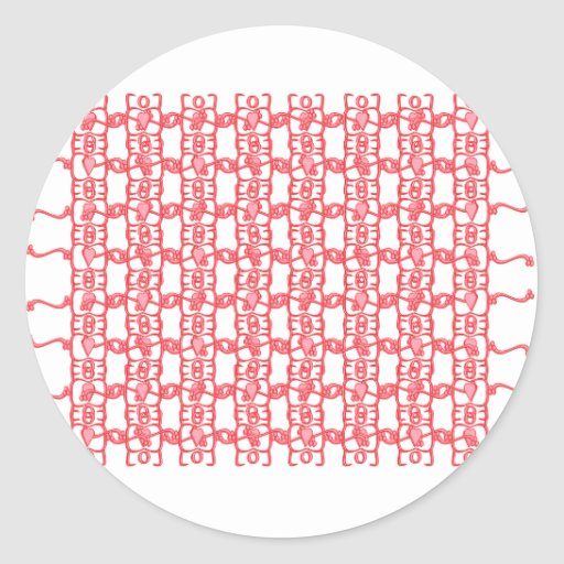 Hearts and Vines Round Stickers