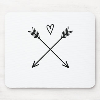 Hearts & Arrows Mouse Pad