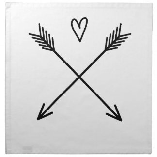 Hearts & Arrows Napkin