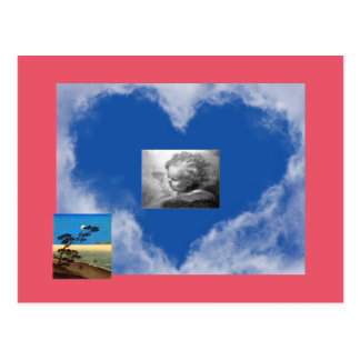 HEARTS AS CLOUDS PAPER PRODUCTS POSTCARD