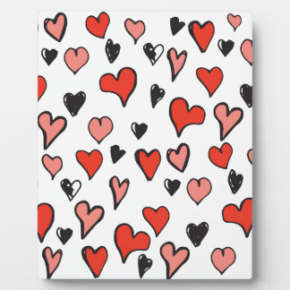 hearts background photo plaques