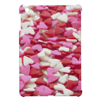Hearts Background Red Pink White Love Valentine iPad Mini Covers