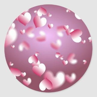 Hearts Background Stickers