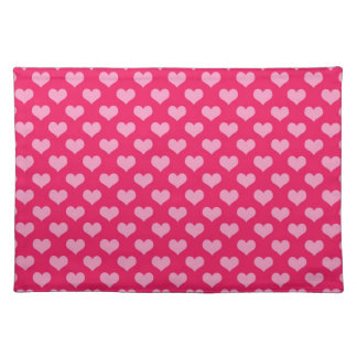 Hearts Background Wallpaper Pink Placemat