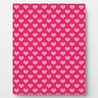 Hearts Background Wallpaper Pink Plaque