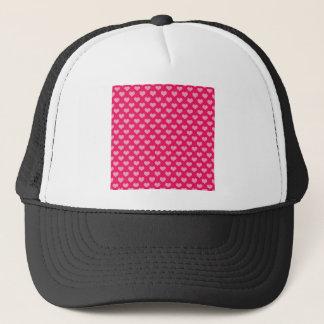 Hearts Background Wallpaper Pink Trucker Hat