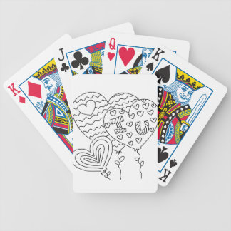 Hearts&Balloons DIY Coloring Doodle gifts Bicycle Playing Cards