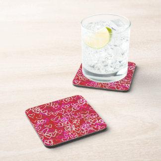 Hearts Beverage Coasters