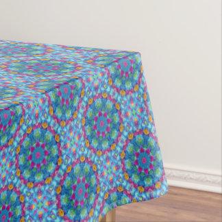 Hearts Blue  Vintage Kaleidoscope   Tablecloth