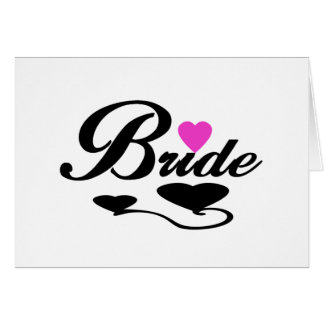 Hearts Bride T-shirts and Gifts Greeting Cards
