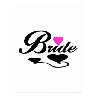 Hearts Bride T-shirts and Gifts Postcard